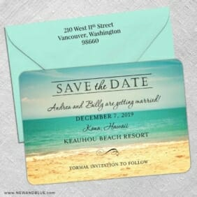 Kona 5 Save The Date With Optional Color Envelope
