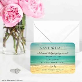 Kona 6 Wedding Save The Date Magnets
