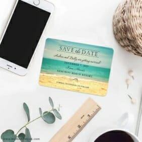 Kona 7 Wedding Save The Date Magnets