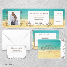 Kona All In One Wedding Invitation Suite