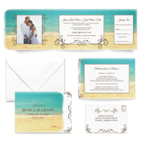 Kona All Inclusive Wedding Invitation