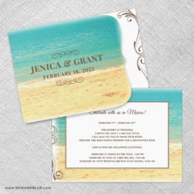 Kona Allinone Wedding Invitation Set