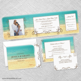 Kona Combined All In One Wedding Invitation