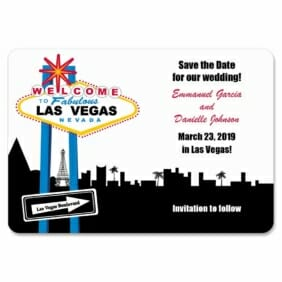 Las Vegas Skyline 1 Save The Date Magnets
