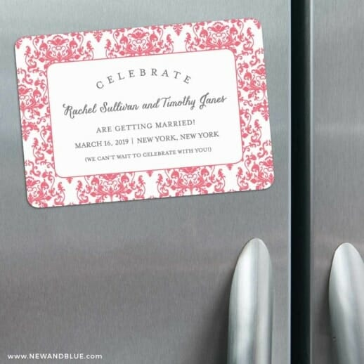 Laughter 3 Refrigerator Save The Date Magnets