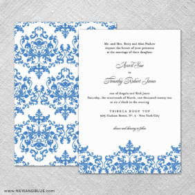 Laughter 4 Invitation Shown With Back Printing