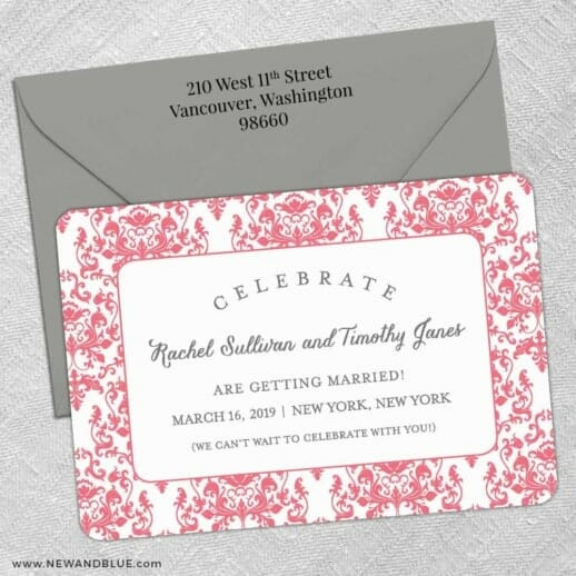 Laughter 5 Save The Date With Optional Color Envelope