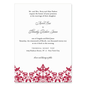 Laughter Wedding Invitation