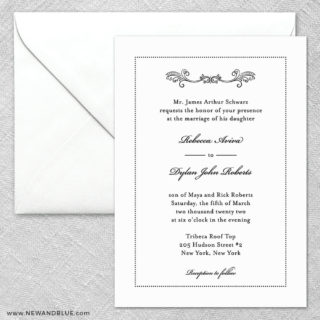 Laurelhurst 2 Invitation And Envelope
