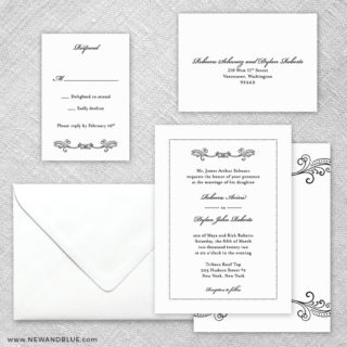 Laurelhurst 5 Wedding Invitation And Rsvp Card
