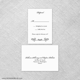 Laurelhurst 6 Reception Card And Rsvp Card