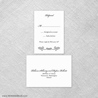 Laurelhurst 6 Reception Card And Rsvp Card