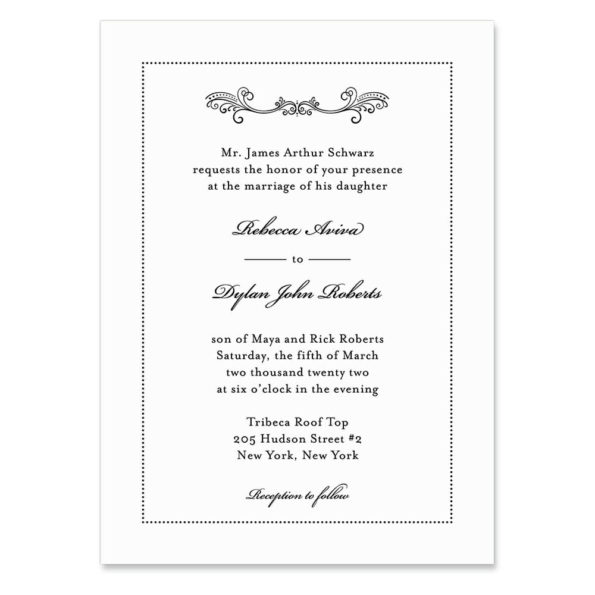 Laurelhurst Invitation Shown In Color Black