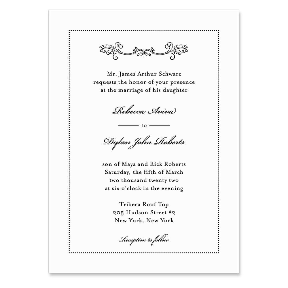 Laurelhurst Invitation Shown In Color Black