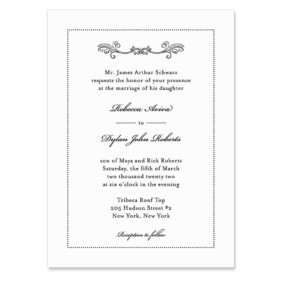 Laurelhurst Wedding Invitation
