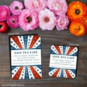 Liberty Party 2 Save The Date Magnet Classic And Petite Size