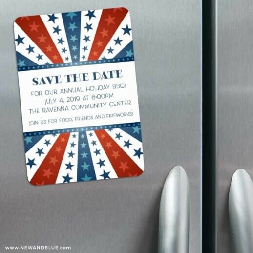 Liberty Party 3 Refrigerator Save The Date Magnets