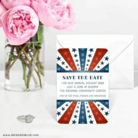 Liberty Party 6 Wedding Save The Date Magnets