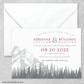 Livingston 2 Invitation And Envelope