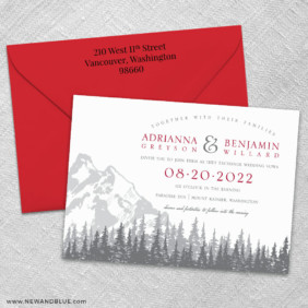 Livingston 3 Invitation And Color Envelope