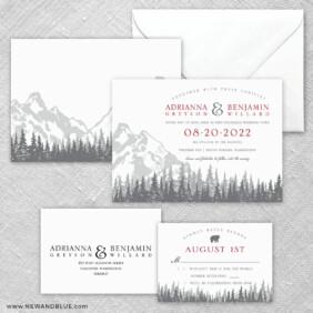 Livingston 5 Wedding Invitation And Rsvp Card