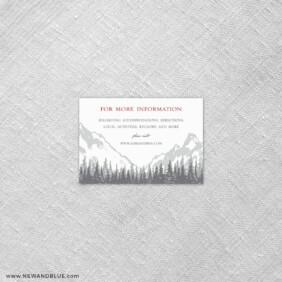 Livingston 7 Reception Card