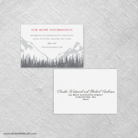 Livingston Rsvp Card And Envelope