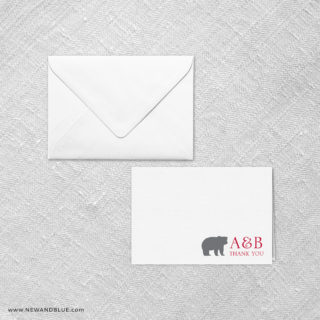 Livingston Thank You Card And Envelope