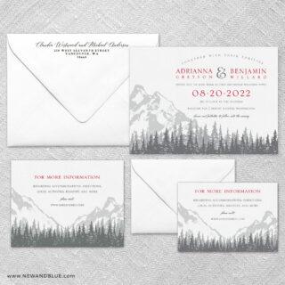 Livingston Wedding Invitation And Rsvp