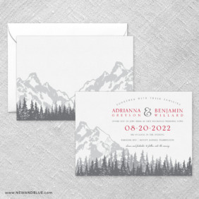 Livingston Wedding Invitation With Back Printing
