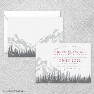 Livingston Wedding Invitation With Back Printing