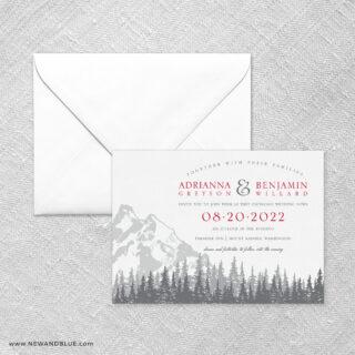 Livingston Wedding Invitation With Envelope
