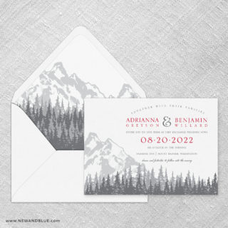 Livingston Wedding Invitation With Envelope Liner