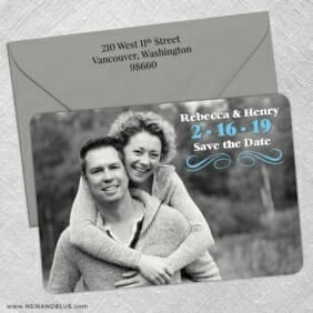 Long Branch 5 Save The Date With Optional Color Envelope