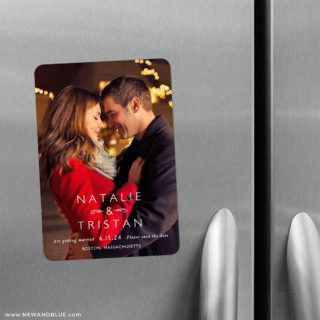 Look Of Love 2 Save The Date Refrigerator Magnet
