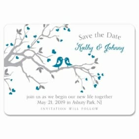Love Birds 1 Save The Date Magnets