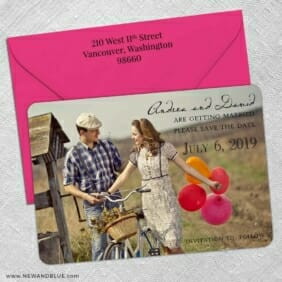 Love Her Madly 5 Save The Date With Optional Color Envelope
