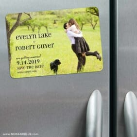 Love Plus Happiness 3 Refrigerator Save The Date Magnets