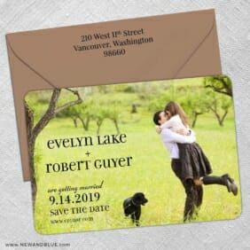 Love Plus Happiness 5 Save The Date With Optional Color Envelope