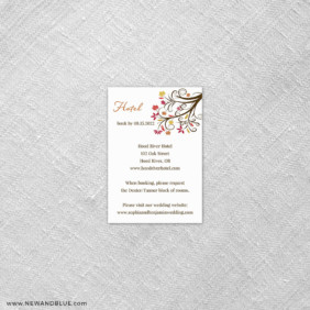 Lovely Leaves 7 Reception Card