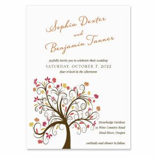 Lovely Leaves Wedding Invitation