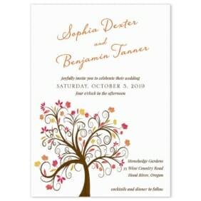 Lovely Leaves Wedding Invitation2