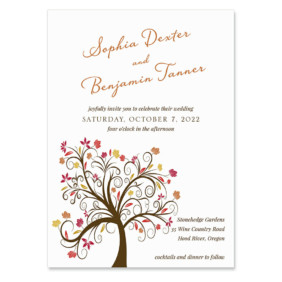 Lovely Leaves Wedding Invitation