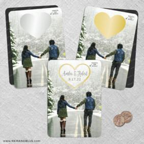 Lovestruck 2 Scratch Off Save The Date Fridge Magnet