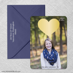 Lovestruck Bat Mitzvah 4 Scratch Off Save The Date With Optional Color Envelope
