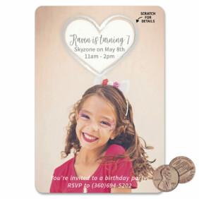 Lovestruck Birthday 1 Scratch Off Save The Date Magnet