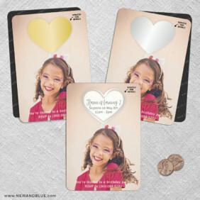Lovestruck Birthday 2 Scratch Off Save The Date Fridge Magnet