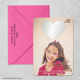 Lovestruck Birthday 4 Scratch Off Save The Date With Optional Color Envelope