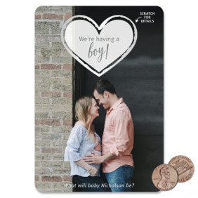 Lovestruck Gender Reveal 1 Scratch Off Save The Date Magnet