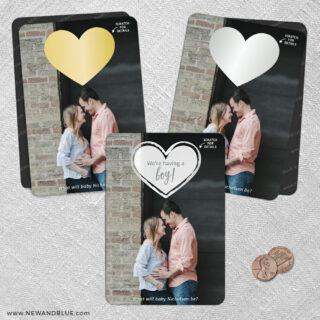Lovestruck Gender Reveal 2 Scratch Off Save The Date Fridge Magnet